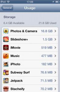 Opslagcapaciteit iPhone 6 Plus